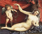 Famous Venus Paintings - Venus and Cupid